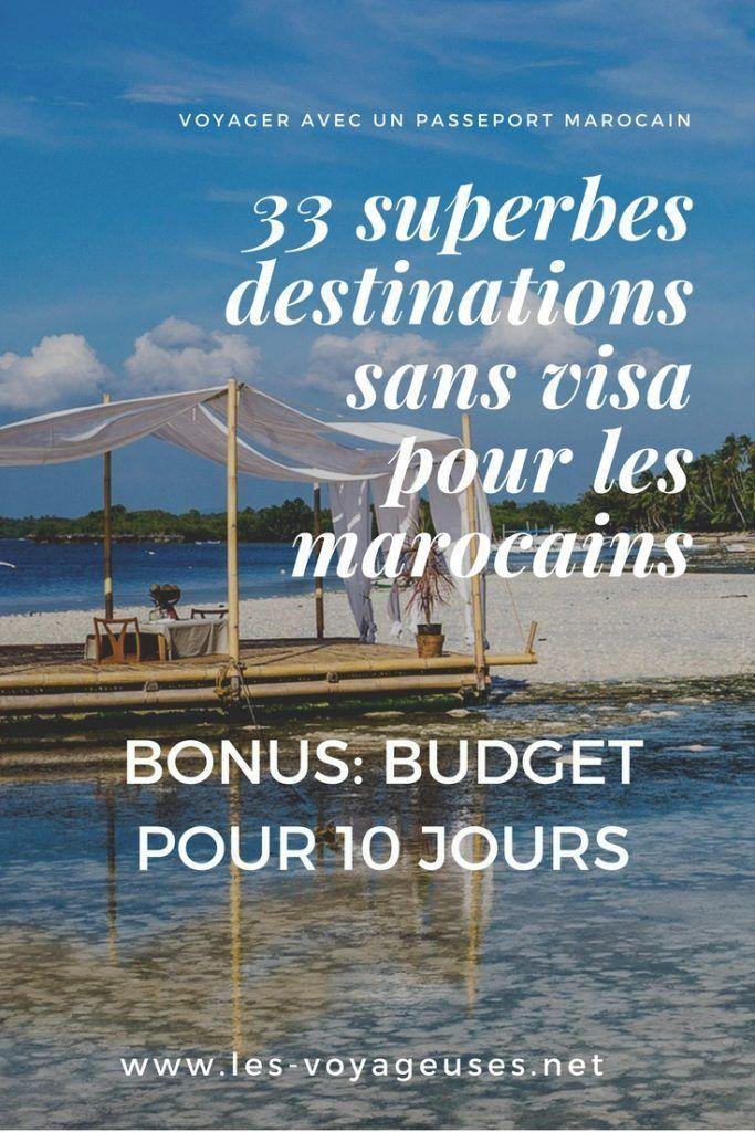 33 destinations sans visa pour les marocains avec budget de 10 jours