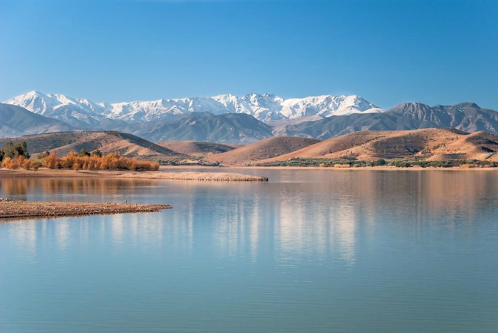 Les plus beaux lac à visiter au Maroc - Lac Lalla Takerkoust Marrakech